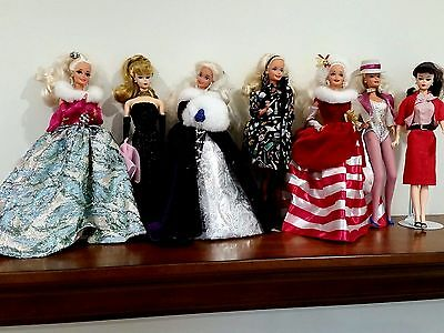 LOT OF 7  BARBIES w/Solo in the Spotlight/Peppermint Princess/Winter Princess
