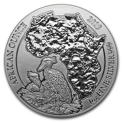 Hippopotame 2017 Rwanda 1 Oz Argent 999 $2 Silver Oz Once 50 Amf