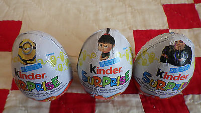 Despicable ME3 New 2017 Kinder Surprise 3 different egg fresh