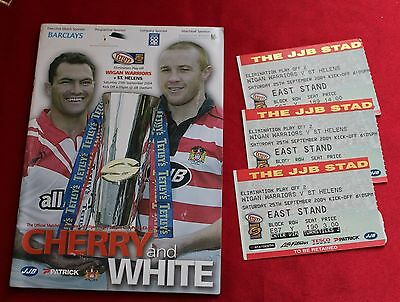 Wigan Warriors Matchday Programme 25/9/2004 v St Helens