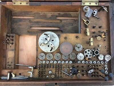 G Boley Watchmakers Lathe boxed with tooling collets etc