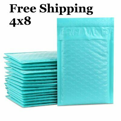 1-500 #000 4x8 Poly ( Teal ) Color Bubble Padded Bubble Mailers Fast Shipping