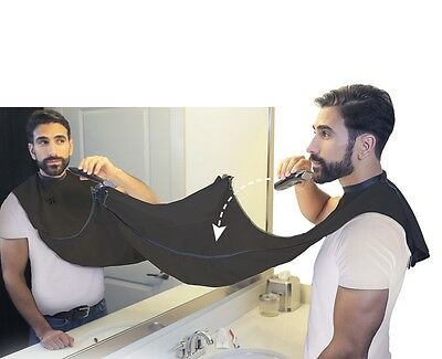 Men's Beard Bib: Barbering Smock Catches Hair Clippings & Helps Prevent Mess