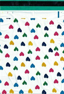 1-1000 12x15.5 ( Colorful Hearts ) Boutique Designer Poly Mailers Fast Shipping