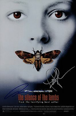 Anthony Hopkins & Jodie Foster Signed Silence Of The Lambs 10x15 Movie Poster