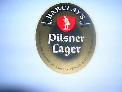 BARCLAY'S Pilsner Lager  -  Barclay Perkins   London