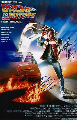Christopher Lloyd & Michael J. Fox Signed Back To The Future 11x17 Movie Poster