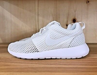 6e67d34aee4 Nike Roshe One Br Breeze Tripple White Wolf Grey Running Sz 8 718552-110