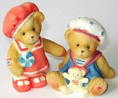 Cherished Teddies Figurine - Paws For Patriotism Avin Exclusive Figure - New