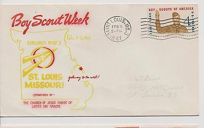 Scout Cachets – Lot 706 – Boy Scout Week St. Louis 1961