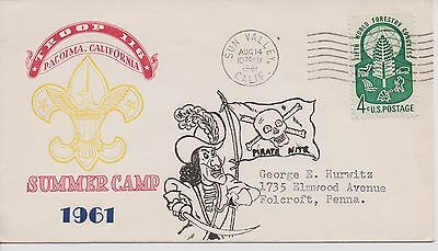 Scout Cachets – Lot 687 -Troop 116 Pacoima CA Summer Camp 1961