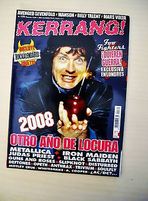 REVISTA KERRANG! Nº 170 - AC/DC - Metallica - Iron maiden - Foo Fighters - ...