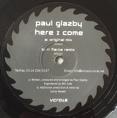 """Paul Glazby Here I Come Vicious Circle Hard House Vinyl Record 12"""""""
