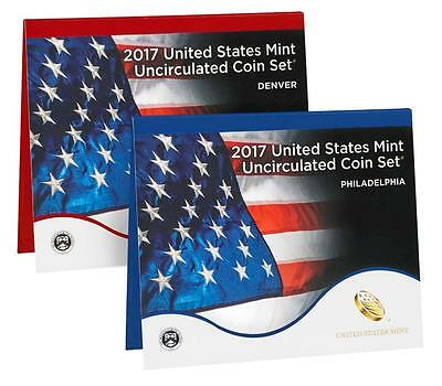 2017 Uncirculated coin Mint set, In original brown box from the mint!