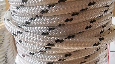 "5/8"" x 100 ft. Double Braid~Yacht Braid Polyester rope hank.Made in USA."