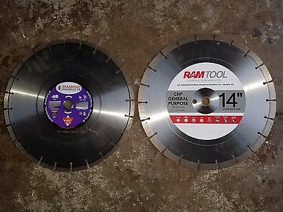 "DIAMOND PRODUCTS H81 IMPERIAL PURPLE 14"" HIGH SPEED BLADE and RAM TOOL 14"" BLADE"