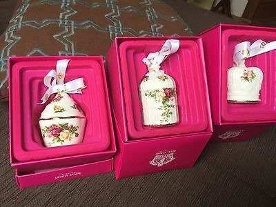 Royal Albert Collectable Xmas ornaments choice of 3 Old Country Roses, NWT