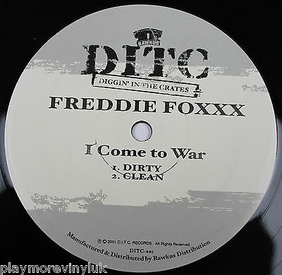 "FREDDIE FOXXX I Come To War 12"" USA 2001 DITC-201"