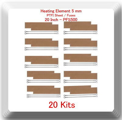 "20 Heating Element 5 mm +20 PTFI Sheets For Impulse Sealer 20""  / 500mm PFS500"