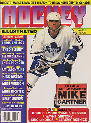 Hockey Illustrated Magazine April 1995 pics of Messier. Gilmour and Gretzky, etc