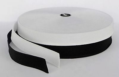 Flat Woven Elastic 20mm 2cm 3/4 inch wide elastic in black or white cut to size