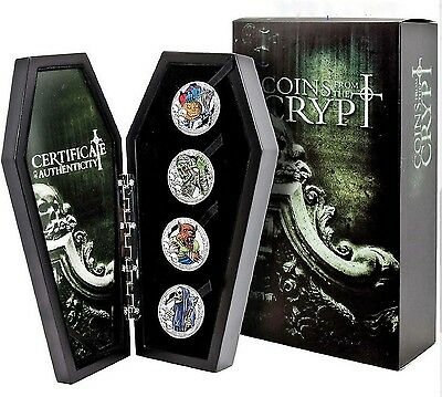 2016 Silver COINS FROM THE CRYPT 4 Coin Set Republic of Kiribati - SALE 10% OFF!