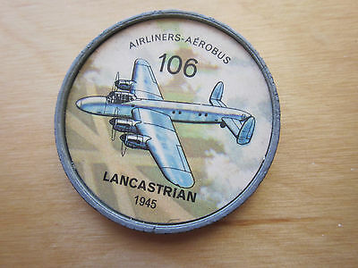 Canadian JELLO, HOSTESS COINS (1960) Aviation Planes Airliners # 106 Lancastrian