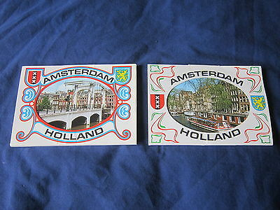 2 x Vintage Amsterdam -Holland Postcard Sets-16 Real Photographs-Free P&P