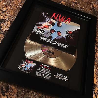 N.W.A Straight Outta Compton Platinum Record Disc Album Music Award RIAA Dr Dre
