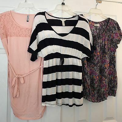 3 PC Maternity Lot Work Business Career Clothes Shirts Blouse Medium/Large Size