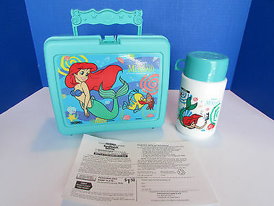 NEW Disney The Little Mermaid Thermos Lunchbox 1990 Complete w/ thermos!