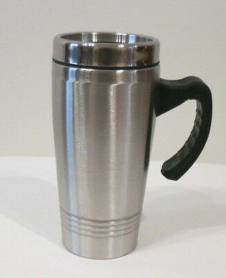 Insulated Travel Mugs Coffee Mug Cup With Handle Portable Stainless Steel