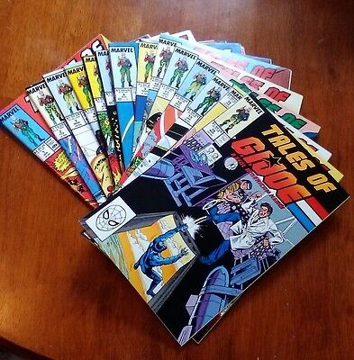 Marvel Tales of GI Joe 1-15 White Pages Reprints A Real American Hero 1-15