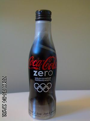 2010 Coca Cola Vancouver Olympic Aluminum Full bottles  Pavilion BLACK - Limited