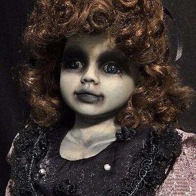 GOTHIC GIRL #16 GHOST Haunted OOAK Penny Dreadful Art PORCELAIN DOLL Zombie