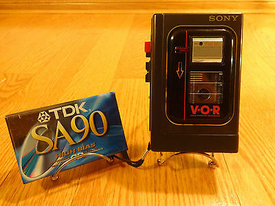 Sony TCM-15V Portable Cassette-Corder Blank Tape TESTED 100% Works Great!