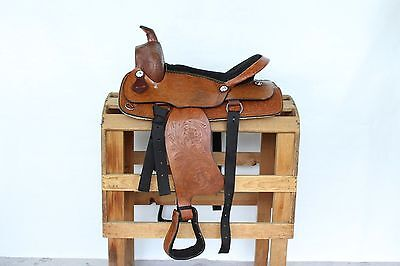 "16"" All Tooled  Western Leather Saddle"