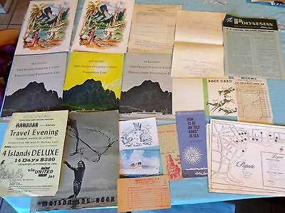 SS Lurline Passenger List, Hawaii, Tahiti, Maps, Menus, Matson Cruise Lines 1961