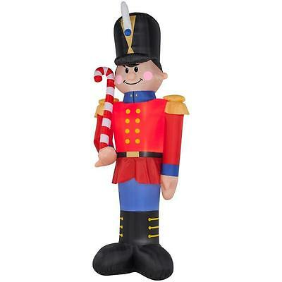 Christmas Santa Toy Soldier Nutcracker 16 Ft Tall  Inflatable Airblown Yard