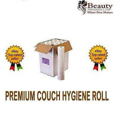 "Professional White 20"" Hygiene Couch Roll Bed Rolls 2PLY x12 rolls x 40M"
