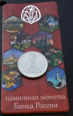 25 rubles 2018 FIFA World Cup Football - 1 coins UNC  in NEW album capsule BEST!