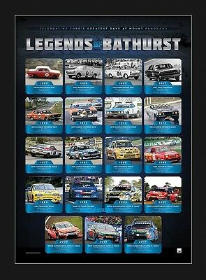 Ford Legends Of Bathurst Print Un Framed Craig Lowndes Dick Johnson V8 Supercars