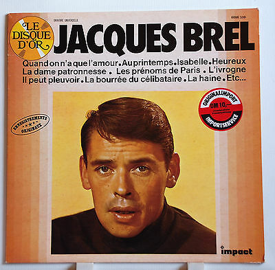 "LP 12"" Jacques Brel Le Disque D´or Impact REC. EX"
