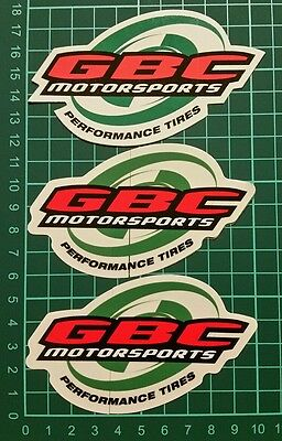 GBC TIRE racing decals stickers offroad atv drags mint diesel nhrda utv sand mx