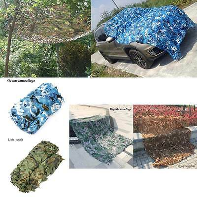 Woodland Jungle Camouflage Net Camo Netting Camping Military Hunting Cover New