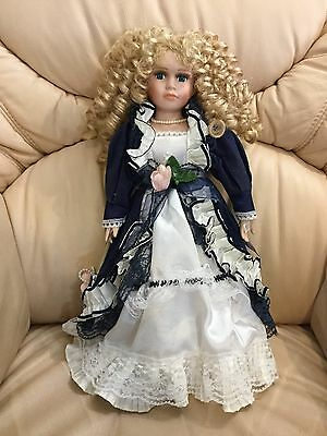 Porcelain Doll Victorian Style Lady 40cm Tall
