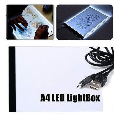 A4 LED Art Craft Design Tracing Stencil Board Graphic Copy Drawing Pad Light Box