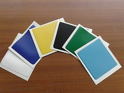 PARKING PERMIT HOLDER PVC POCKETS - x 2 - YELLOW,GREEN, SILVER ONLY