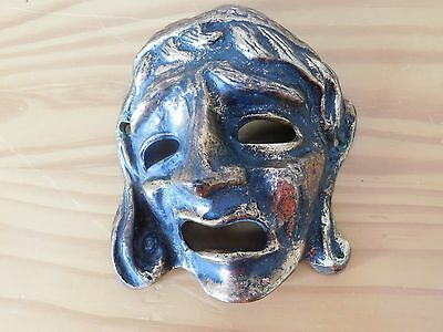 Ancient Antique Greek Greece Bronze Theater Tragedy Mask