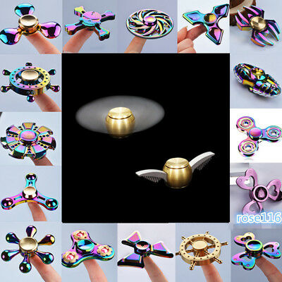 LED Flashing Hand Finger Spinner Toys Light Up Fidget EDC Stress ADHD kids Toys